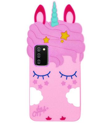 ADEL Siliconen Back Cover Softcase Hoesje voor Samsung Galaxy A02s - Eenhoorn Roze
