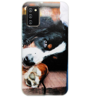 ADEL Siliconen Back Cover Softcase Hoesje voor Samsung Galaxy A02s - Berner Sennenhond