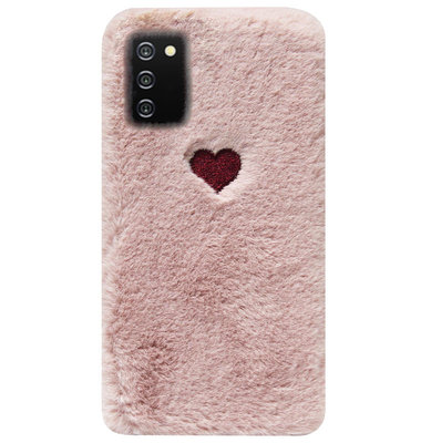 ADEL Siliconen Back Cover Softcase Hoesje voor Samsung Galaxy A02s - Hartjes Roze