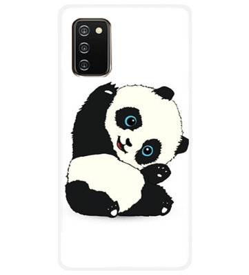 ADEL Siliconen Back Cover Softcase Hoesje voor Samsung Galaxy A02s - Panda
