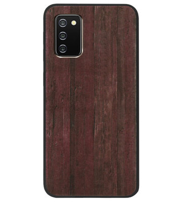 ADEL Siliconen Back Cover Softcase Hoesje voor Samsung Galaxy A02s - Hout Design Bruin