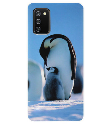 ADEL Siliconen Back Cover Softcase Hoesje voor Samsung Galaxy A02s - Pinguin Blauw