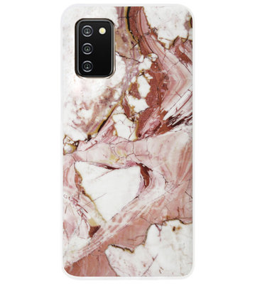 ADEL Siliconen Back Cover Softcase Hoesje voor Samsung Galaxy A02s - Marmer Rood