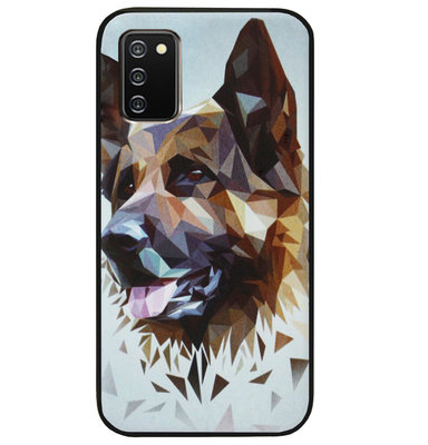 ADEL Siliconen Back Cover Softcase Hoesje voor Samsung Galaxy A02s - Duitse Herder Hond