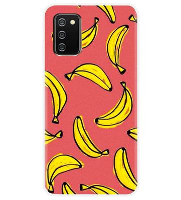 ADEL Siliconen Back Cover Softcase Hoesje voor Samsung Galaxy A02s - Bananen Geel