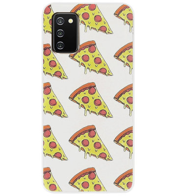 ADEL Siliconen Back Cover Softcase Hoesje voor Samsung Galaxy A02s - Junkfood Pizza