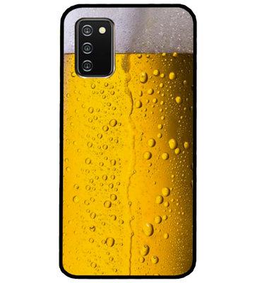 ADEL Siliconen Back Cover Softcase Hoesje voor Samsung Galaxy A02s - Pils Bier
