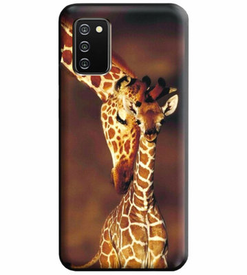 ADEL Siliconen Back Cover Softcase Hoesje voor Samsung Galaxy A02s - Giraf