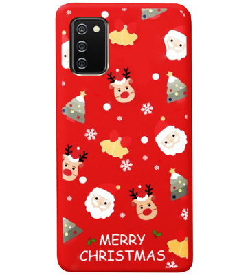 ADEL Siliconen Back Cover Softcase Hoesje voor Samsung Galaxy A02s - Kerstmis Rood