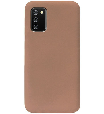 ADEL Siliconen Back Cover Softcase Hoesje voor Samsung Galaxy A02s - Bruin