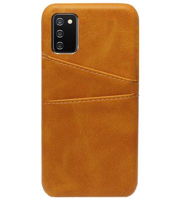 ADEL Kunstleren Back Cover Pasjes Hoesje voor Samsung Galaxy A02s - Bruin