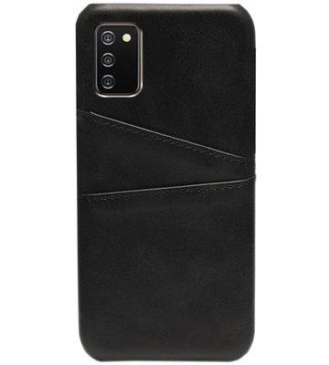 ADEL Kunstleren Back Cover Pasjes Hoesje voor Samsung Galaxy A02s - Zwart