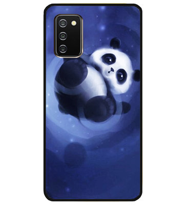 ADEL Siliconen Back Cover Softcase Hoesje voor Samsung Galaxy A02s - Panda Liggend