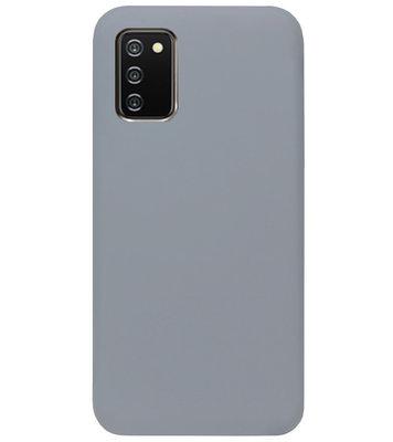 ADEL Siliconen Back Cover Softcase Hoesje voor Samsung Galaxy A02s - Grijs