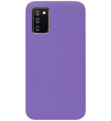 ADEL Siliconen Back Cover Softcase Hoesje voor Samsung Galaxy A02s - Paars