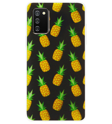 ADEL Siliconen Back Cover Softcase Hoesje voor Samsung Galaxy A02s - Ananas