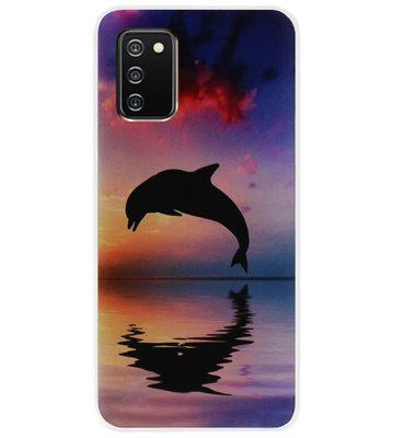 ADEL Kunststof Back Cover Hardcase Hoesje voor Samsung Galaxy A02s - Dolfijn