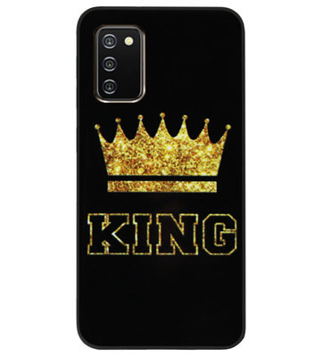 ADEL Siliconen Back Cover Softcase Hoesje voor Samsung Galaxy A02s - King Koning