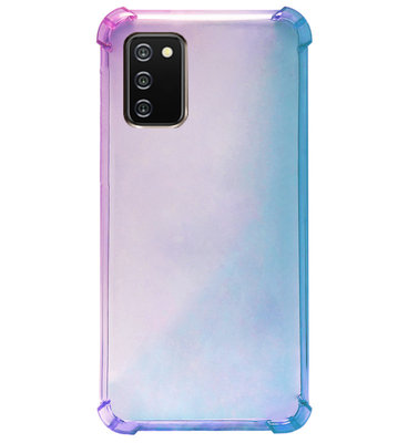 ADEL Siliconen Back Cover Softcase Hoesje voor Samsung Galaxy A02s - Kleurovergang Blauw Paars
