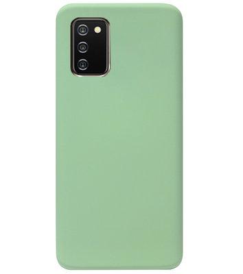 ADEL Premium Siliconen Back Cover Softcase Hoesje voor Samsung Galaxy A02s - Lichtgroen