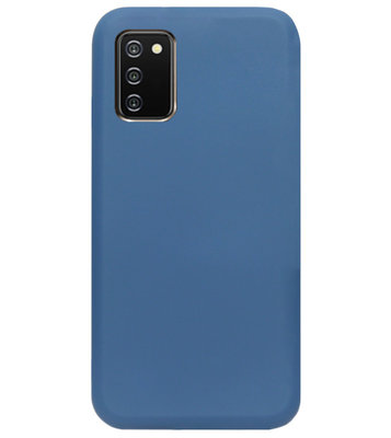 ADEL Premium Siliconen Back Cover Softcase Hoesje voor Samsung Galaxy A02s - Blauw