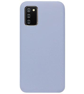 ADEL Premium Siliconen Back Cover Softcase Hoesje voor Samsung Galaxy A02s - Lavendel Grijs