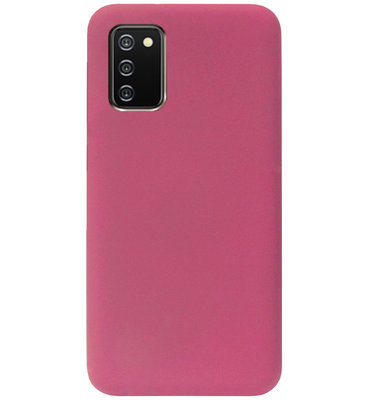 ADEL Premium Siliconen Back Cover Softcase Hoesje voor Samsung Galaxy A02s - Bordeaux Rood