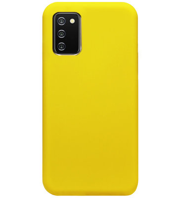 ADEL Siliconen Back Cover Softcase Hoesje voor Samsung Galaxy A02s - Geel