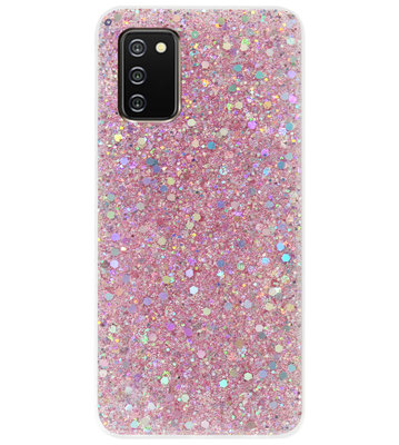 ADEL Premium Siliconen Back Cover Softcase Hoesje voor Samsung Galaxy A02s - Bling Bling Roze