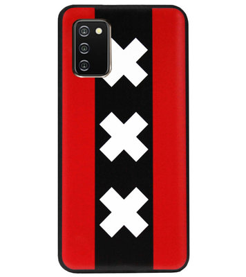 ADEL Siliconen Back Cover Softcase Hoesje voor Samsung Galaxy A02s - Amsterdam Andreaskruisen