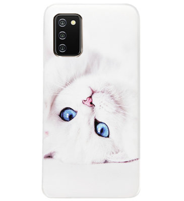 ADEL Siliconen Back Cover Softcase Hoesje voor Samsung Galaxy A02s - Katten