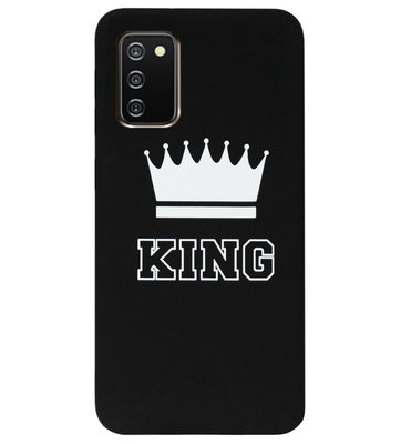 ADEL Siliconen Back Cover Softcase Hoesje voor Samsung Galaxy A02s - King