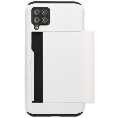 ADEL Kunststof Back Cover Hardcase Hoesje voor Samsung Galaxy A12/ M12 - Pasjeshouder Wit