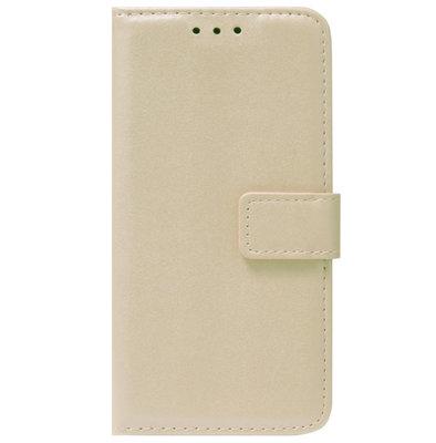 ADEL Kunstleren Book Case Pasjes Portemonnee Hoesje voor Samsung Galaxy A12/ M12 - Goud