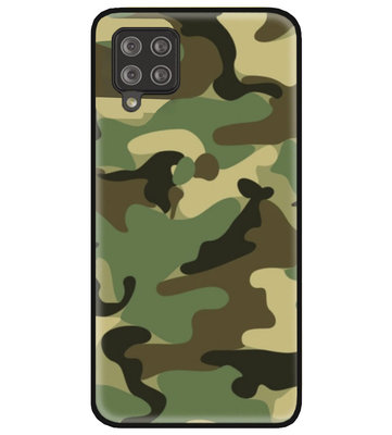 ADEL Siliconen Back Cover Softcase Hoesje voor Samsung Galaxy A12/ M12 - Camouflage