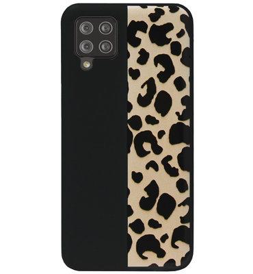 ADEL Siliconen Back Cover Softcase Hoesje voor Samsung Galaxy A12/ M12 - Luipaard Bruin