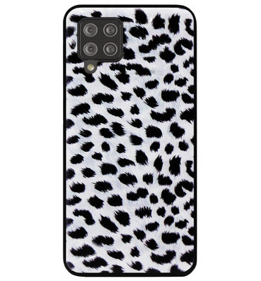 ADEL Siliconen Back Cover Softcase Hoesje voor Samsung Galaxy A12/ M12 - Luipaard Wit