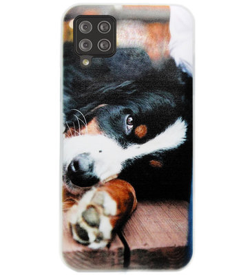 ADEL Siliconen Back Cover Softcase Hoesje voor Samsung Galaxy A12/ M12 - Berner Sennenhond