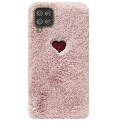 ADEL Siliconen Back Cover Softcase Hoesje voor Samsung Galaxy A12/ M12 - Hartjes Roze