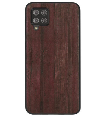 ADEL Siliconen Back Cover Softcase Hoesje voor Samsung Galaxy A12/ M12 - Hout Design Bruin