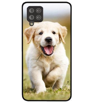 ADEL Siliconen Back Cover Softcase Hoesje voor Samsung Galaxy A12/ M12 - Labrador Retriever Hond