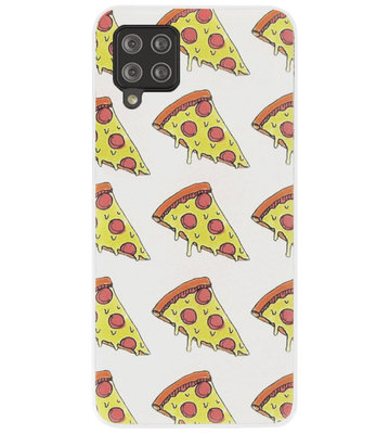 ADEL Siliconen Back Cover Softcase Hoesje voor Samsung Galaxy A12/ M12 - Junkfood Pizza