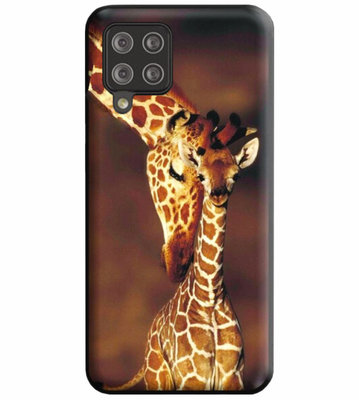 ADEL Siliconen Back Cover Softcase Hoesje voor Samsung Galaxy A12/ M12 - Giraf