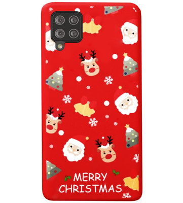 ADEL Siliconen Back Cover Softcase Hoesje voor Samsung Galaxy A12/ M12 - Kerstmis Rood