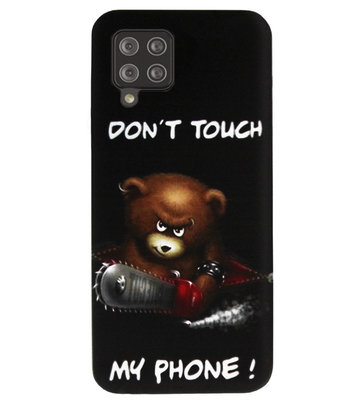 ADEL Siliconen Back Cover Softcase Hoesje voor Samsung Galaxy A12/ M12 - Don't Touch My Phone Beren
