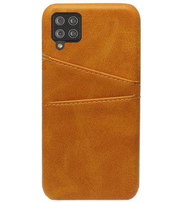 ADEL Kunstleren Back Cover Pasjes Hoesje voor Samsung Galaxy A12/ M12 - Bruin