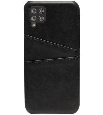 ADEL Kunstleren Back Cover Pasjes Hoesje voor Samsung Galaxy A12/ M12 - Zwart