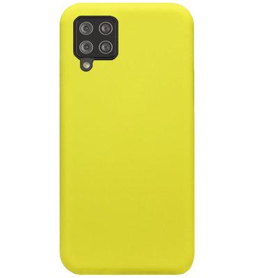 ADEL Premium Siliconen Back Cover Softcase Hoesje voor Samsung Galaxy A12/ M12 - Geel