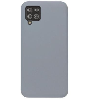 ADEL Siliconen Back Cover Softcase Hoesje voor Samsung Galaxy A12/ M12 - Grijs