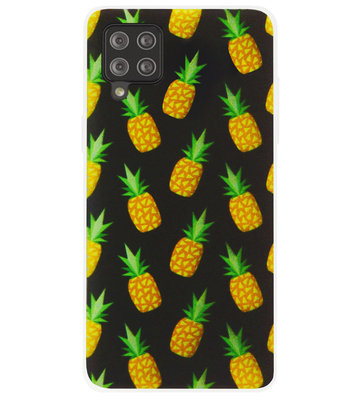 ADEL Siliconen Back Cover Softcase Hoesje voor Samsung Galaxy A12/ M12 - Ananas